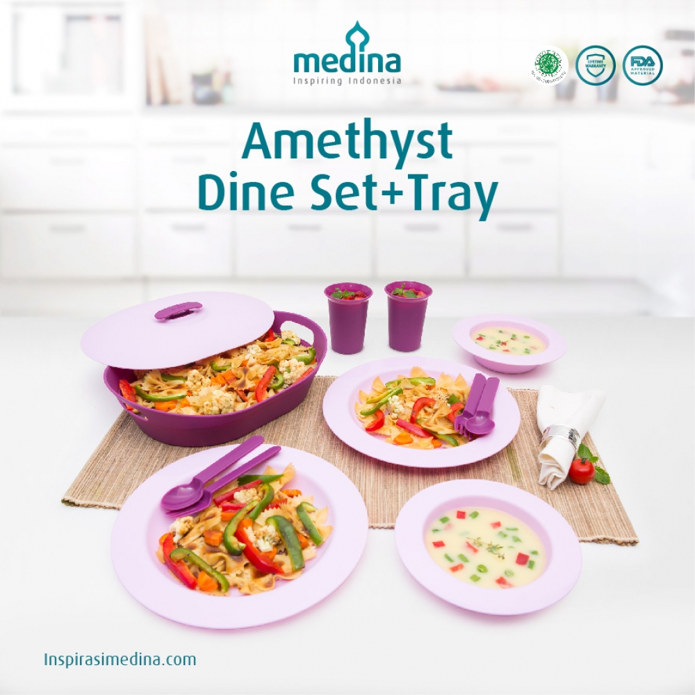 Amethyst Dine Set + Tray
