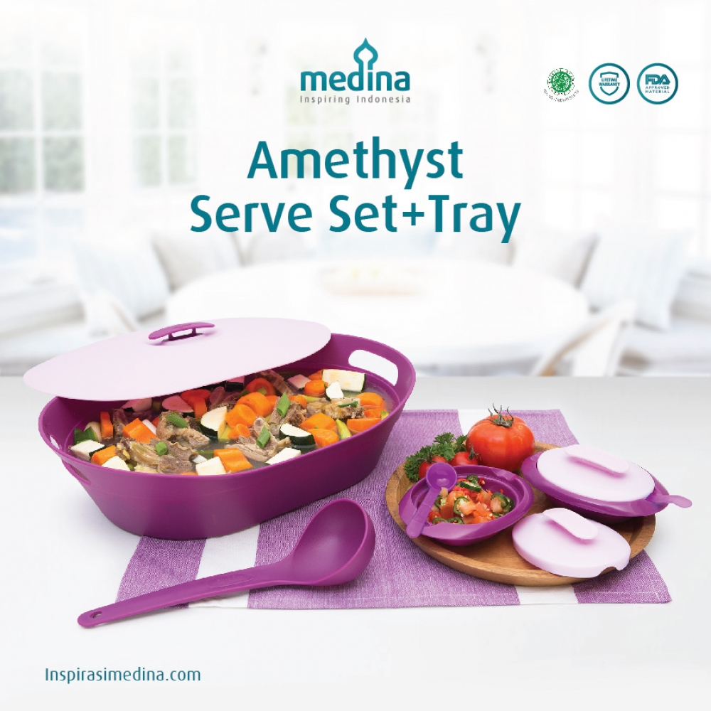 Amethyst Serve Set + Tray